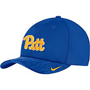 Nike Men's Pitt Panthers Blue Aerobill Swoosh Flex Classic99 Football Sideline Hat