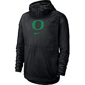 Nike Men's Oregon Ducks Repel Football Sideline Player Pullover Black Hoodie