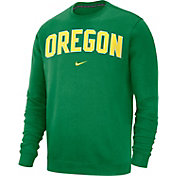 Nike Men's Oregon Ducks Green Club Crew Sweatshirt