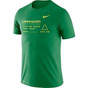 Nike Men's Oregon Ducks Green Football Dri-FIT Cotton Facility T-Shirt