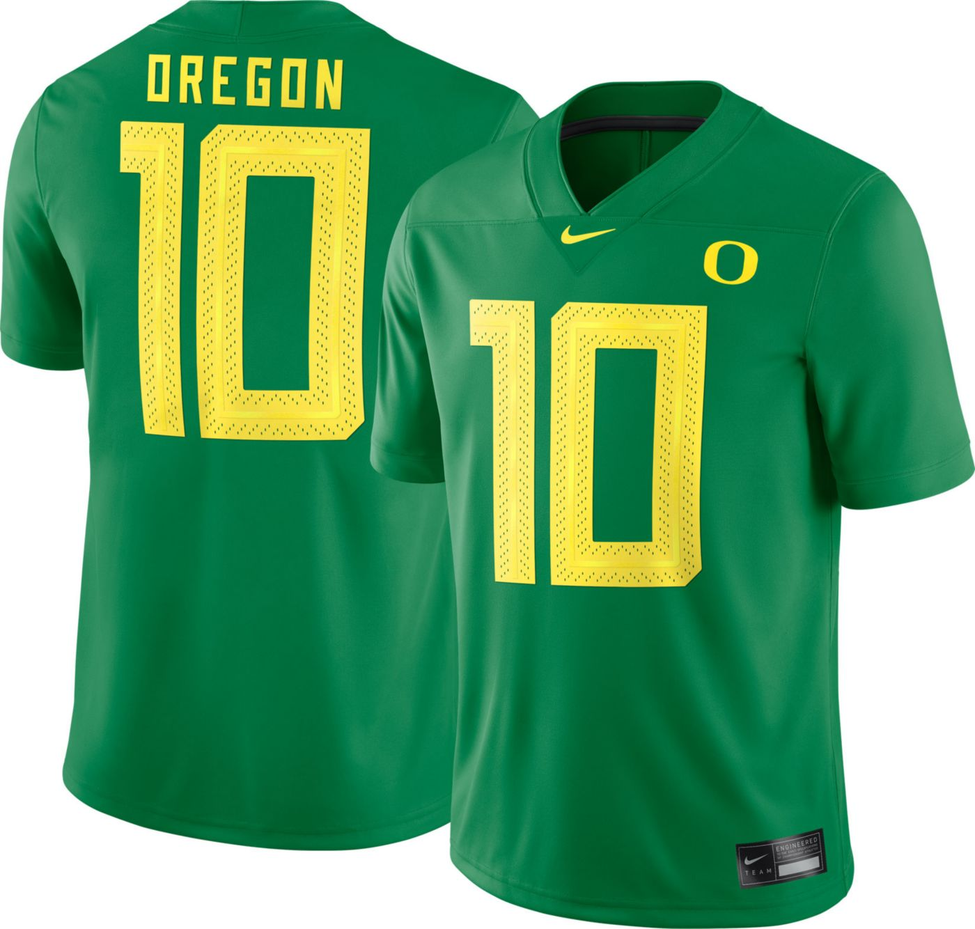 Nike Men's Oregon Ducks #36 Green Dri-FIT Game Football Jersey