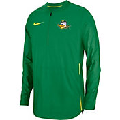 Nike Men's Oregon Ducks Green Lockdown Football Quarter-Zip Jacket