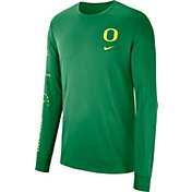 Nike Men's Oregon Ducks Green Dri-FIT Elevated Basketball Long Sleeve Shirt