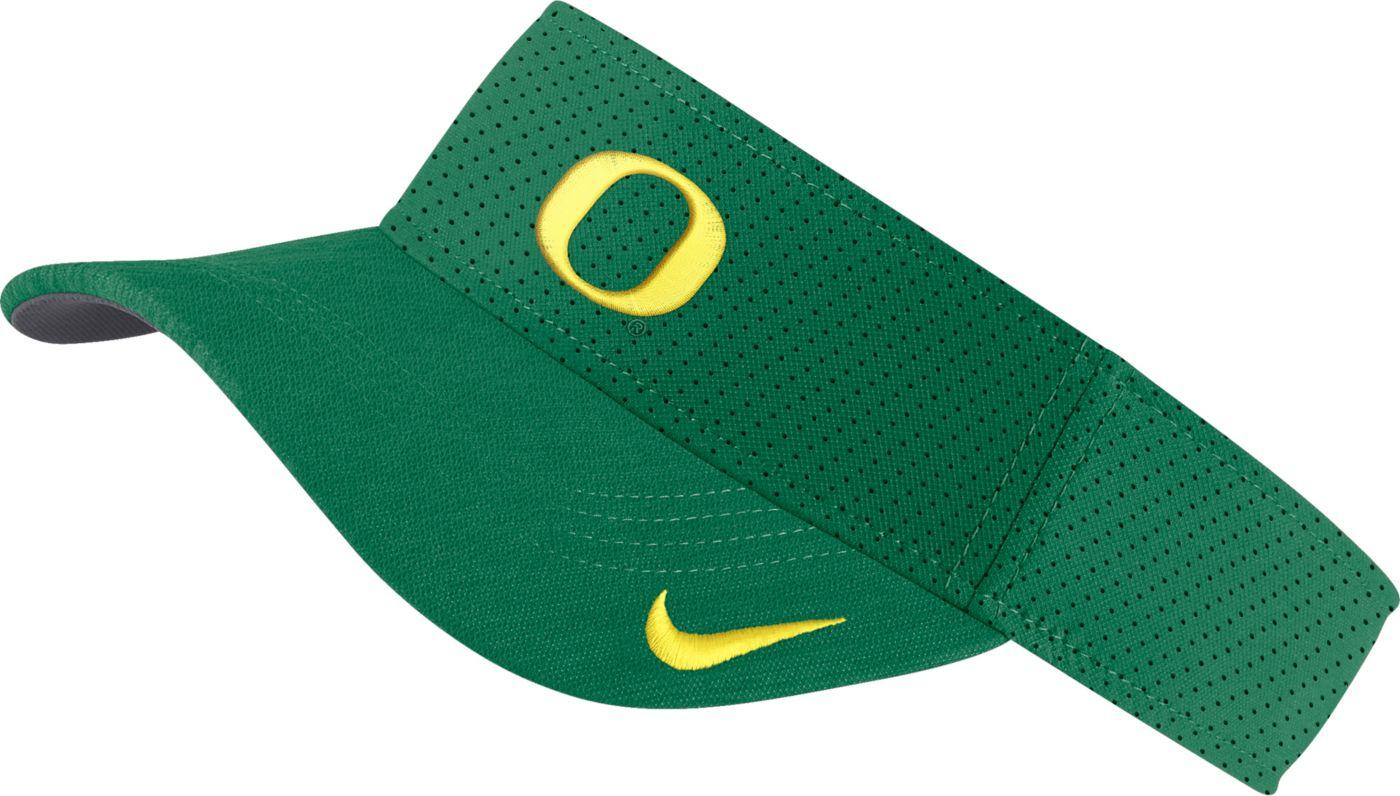 Nike Men's Oregon Ducks Green AeroBill Football Sideline Visor