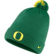 Nike Men's Oregon Ducks Green Football Sideline Pom Beanie