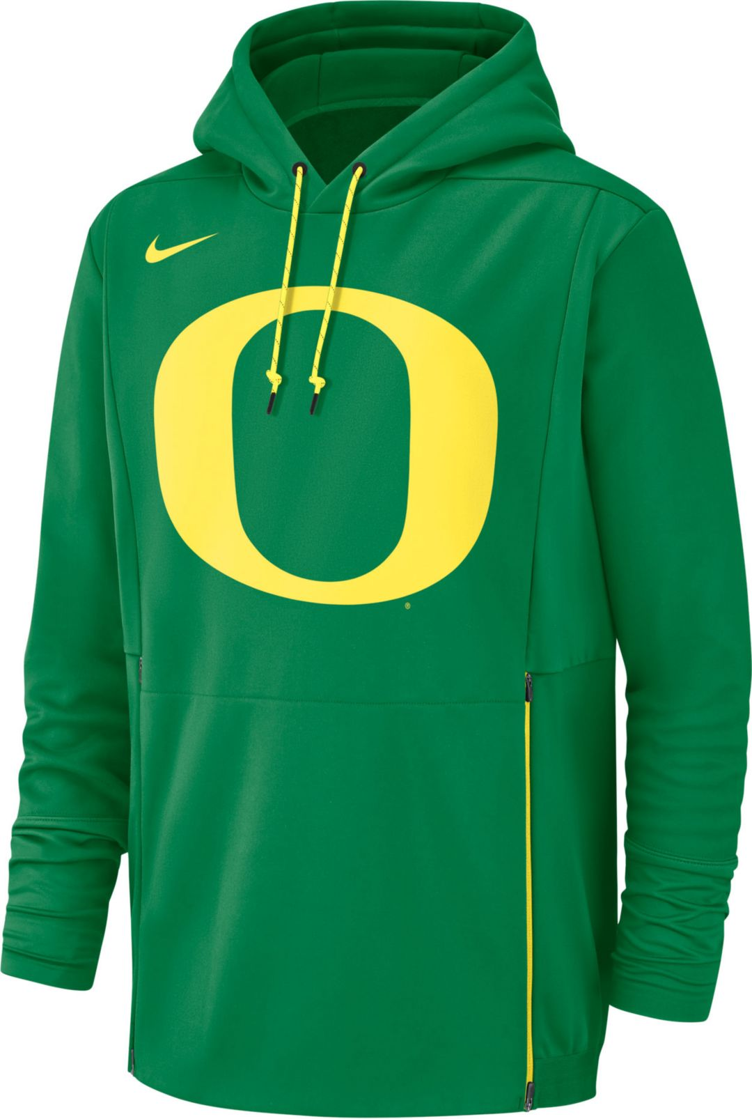 new product cbee9 91252 Nike Men s Oregon Ducks Green Therma-FIT Pullover Hoodie 1