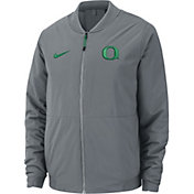 Nike Men's Oregon Ducks Grey Bomber Full-Zip Jacket