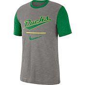 Nike Men's Oregon Ducks Grey Dri-FIT Baseball Slub T-Shirt