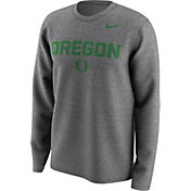 Nike Men's Oregon Ducks Grey Lockup Long Sleeve Shirt