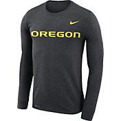 Nike Men's Oregon Ducks Grey Legend Football Sideline Long Sleeve T-Shirt