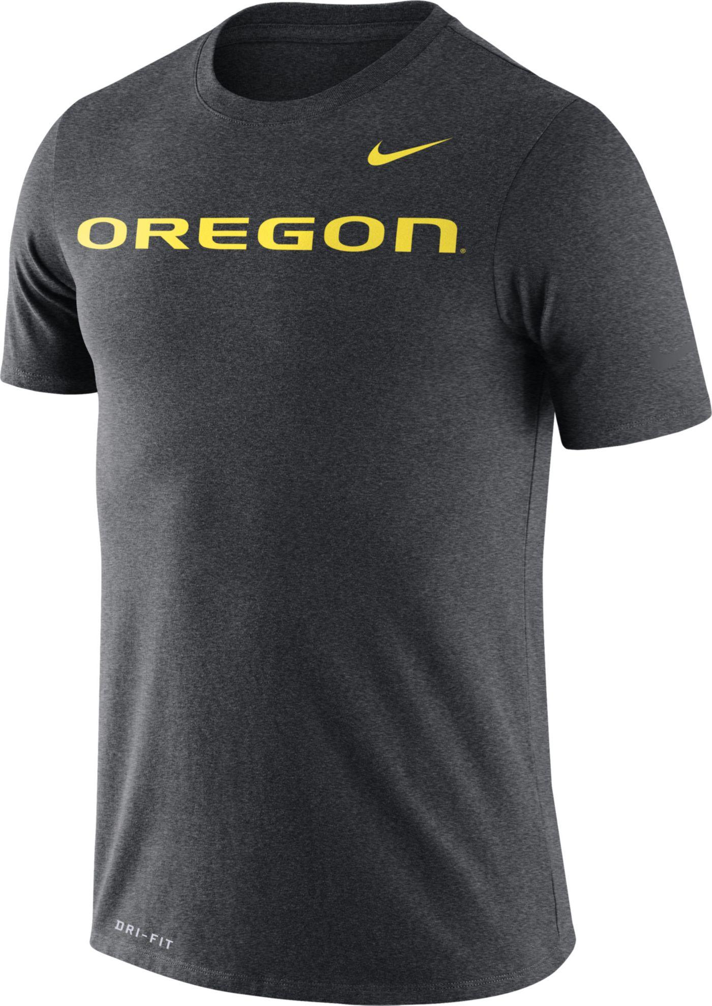 Nike Men's Oregon Ducks Grey Legend Football Sideline T-Shirt