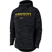Nike Men's Oregon Ducks Black Heathered Dri-FIT Spotlight Pullover Hoodie
