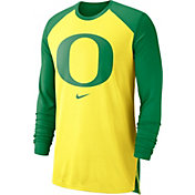 Nike Men's Oregon Ducks Yellow/Green Breathe Long Sleeve Shirt