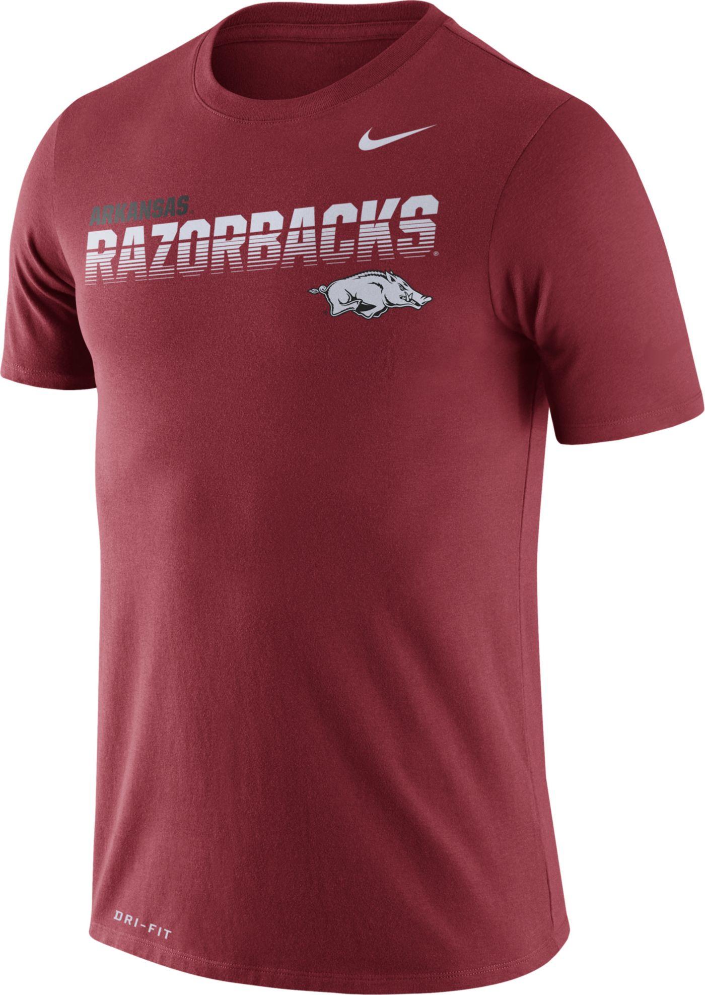 Nike Men's Arkansas Razorbacks Cardinal Legend Football Sideline T-Shirt
