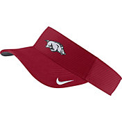 Nike Men's Arkansas Razorbacks Cardinal AeroBill Football Sideline Visor