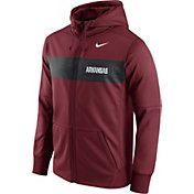 Nike Men's Arkansas Razorbacks Cardinal Therma-FIT Full-Zip Sideline Hoodie