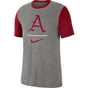Nike Men's Arkansas Razorbacks Grey Dri-FIT Baseball Slub T-Shirt