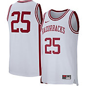 Nike Men's Arkansas Razorbacks White #25 Replica Basketball Jersey