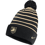 Nike Men's Army West Point Black Knights Army Black Football Sideline Cuffed Pom Beanie