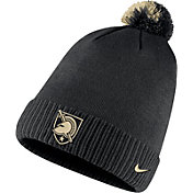 Nike Men's Army West Point Black Knights Football Sideline Pom Army Black Beanie