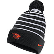 Nike Men's Oregon State Beavers Football Sideline Cuffed Pom Black Beanie