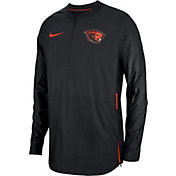 Nike Men's Oregon State Beavers Lockdown Football Quarter-Zip Black Jacket