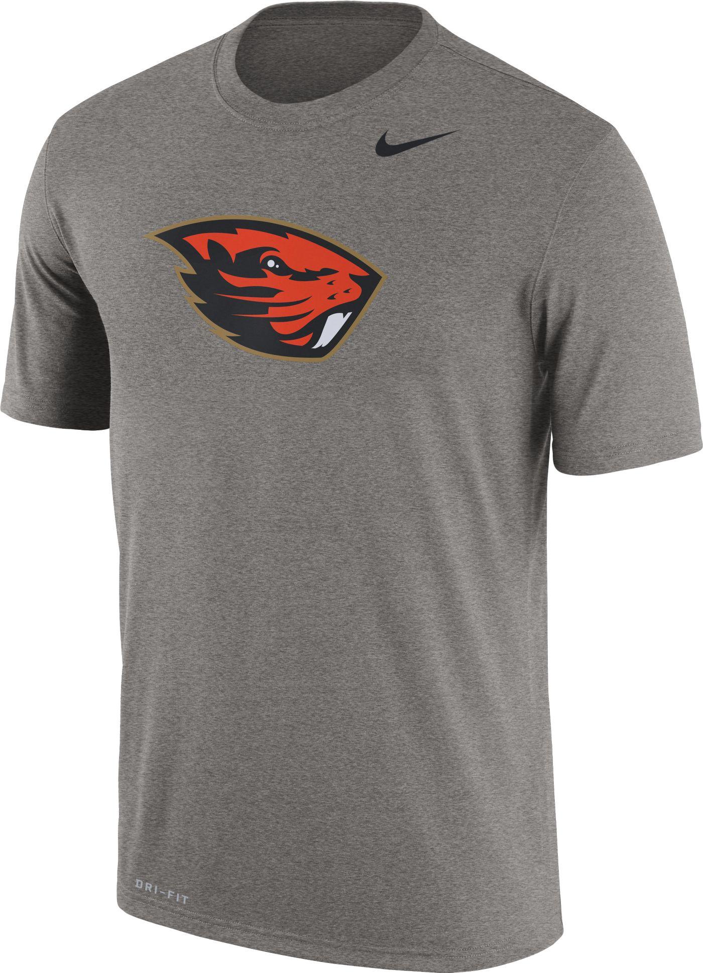 Nike Men's Oregon State Beavers Grey Logo Dry Legend T-Shirt