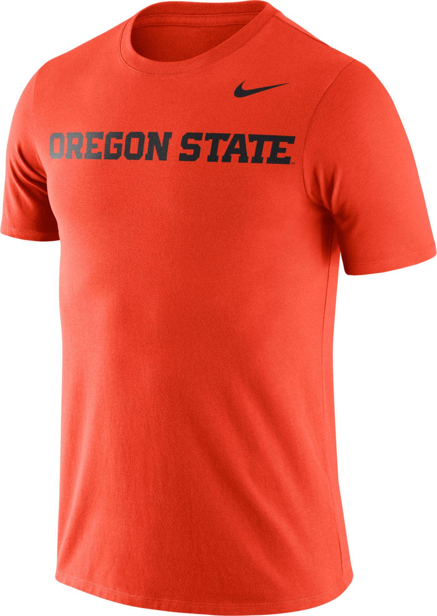Nike Men's Oregon State Beavers Orange Dri-FIT Cotton Word T-Shirt