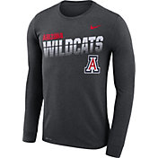 Nike Men's Arizona Wildcats Grey Legend Football Sideline Long Sleeve T-Shirt