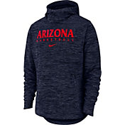 Nike Men's Arizona Wildcats Navy Heathered Dri-FIT Spotlight Pullover Hoodie
