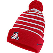 Nike Men's Arizona Wildcats Navy Football Sideline Cuffed Pom Beanie
