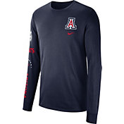 Nike Men's Arizona Wildcats Navy Dri-FIT Elevated Basketball Long Sleeve Shirt