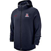 Nike Men's Arizona Wildcats Navy Dri-FIT Showtime Full-Zip Basketball Hoodie
