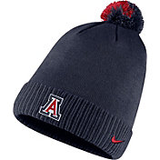 Nike Men's Arizona Wildcats Navy Football Sideline Pom Beanie