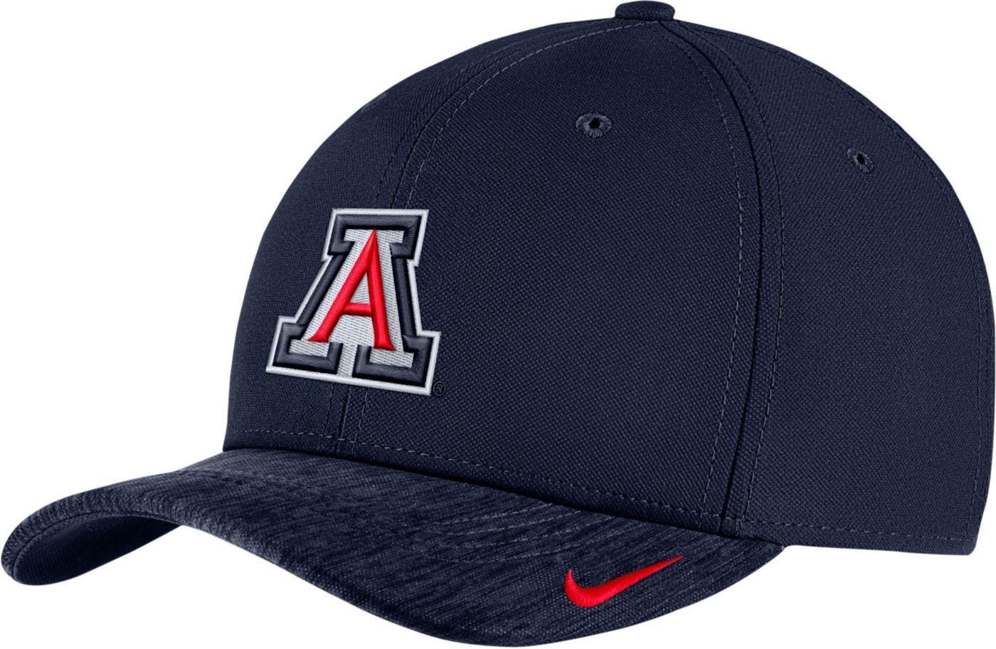 Nike Men's Arizona Wildcats Navy Aerobill Swoosh Flex Classic99 Football Sideline Hat