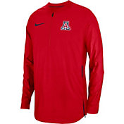 Nike Men's Arizona Wildcats Cardinal Lockdown Football Quarter-Zip Jacket