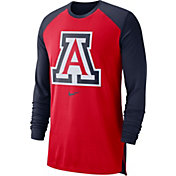 Nike Men's Arizona Wildcats Cardinal/Navy Breathe Long Sleeve Shirt