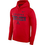 Nike Men's Arizona Wildcats Cardinal Therma-FIT Pullover Sideline Hoodie