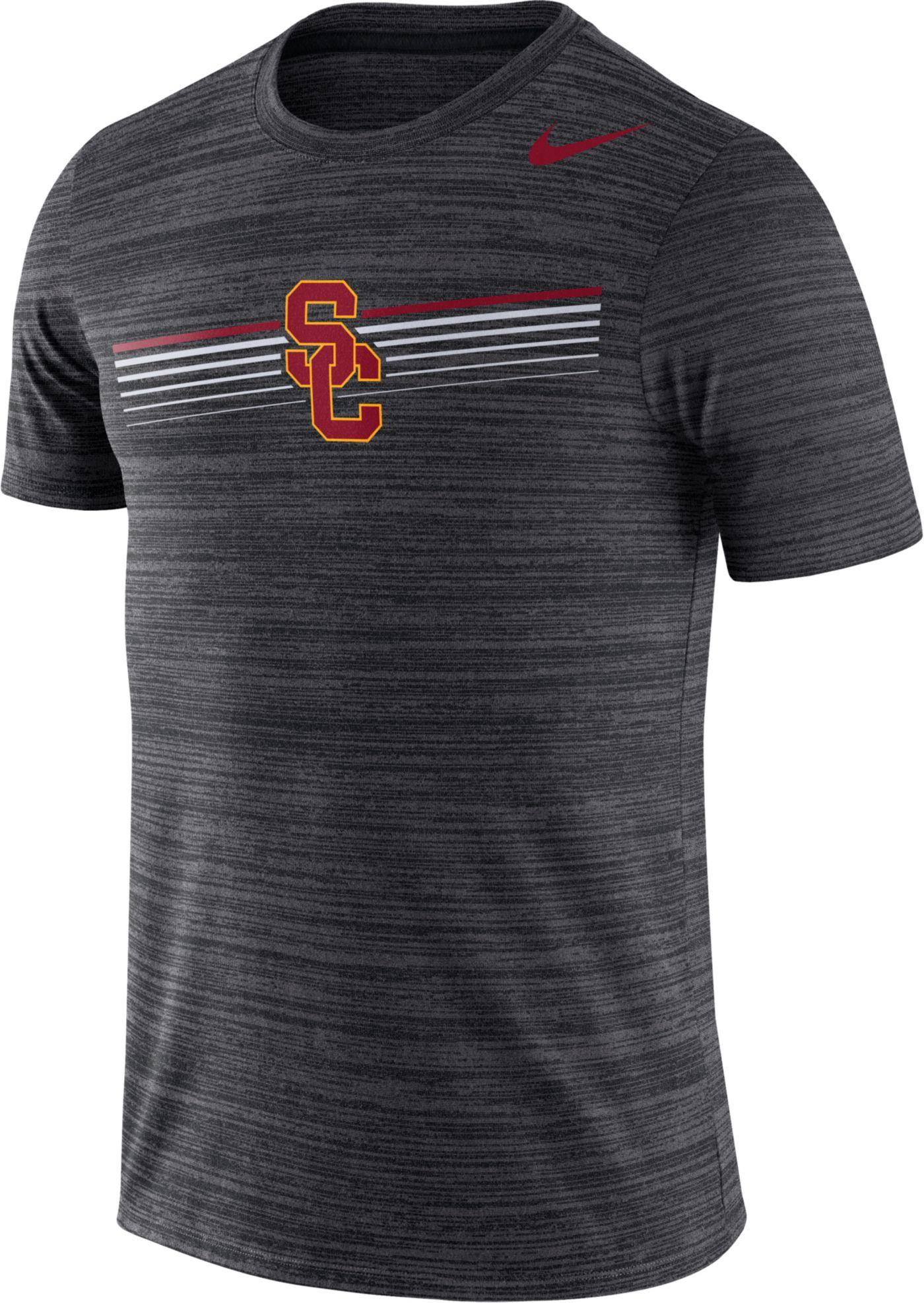 Nike Men's USC Trojans Velocity Legend Graphic Black T-Shirt