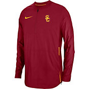 Nike Men's USC Trojans Cardinal Lockdown Football Quarter-Zip Jacket