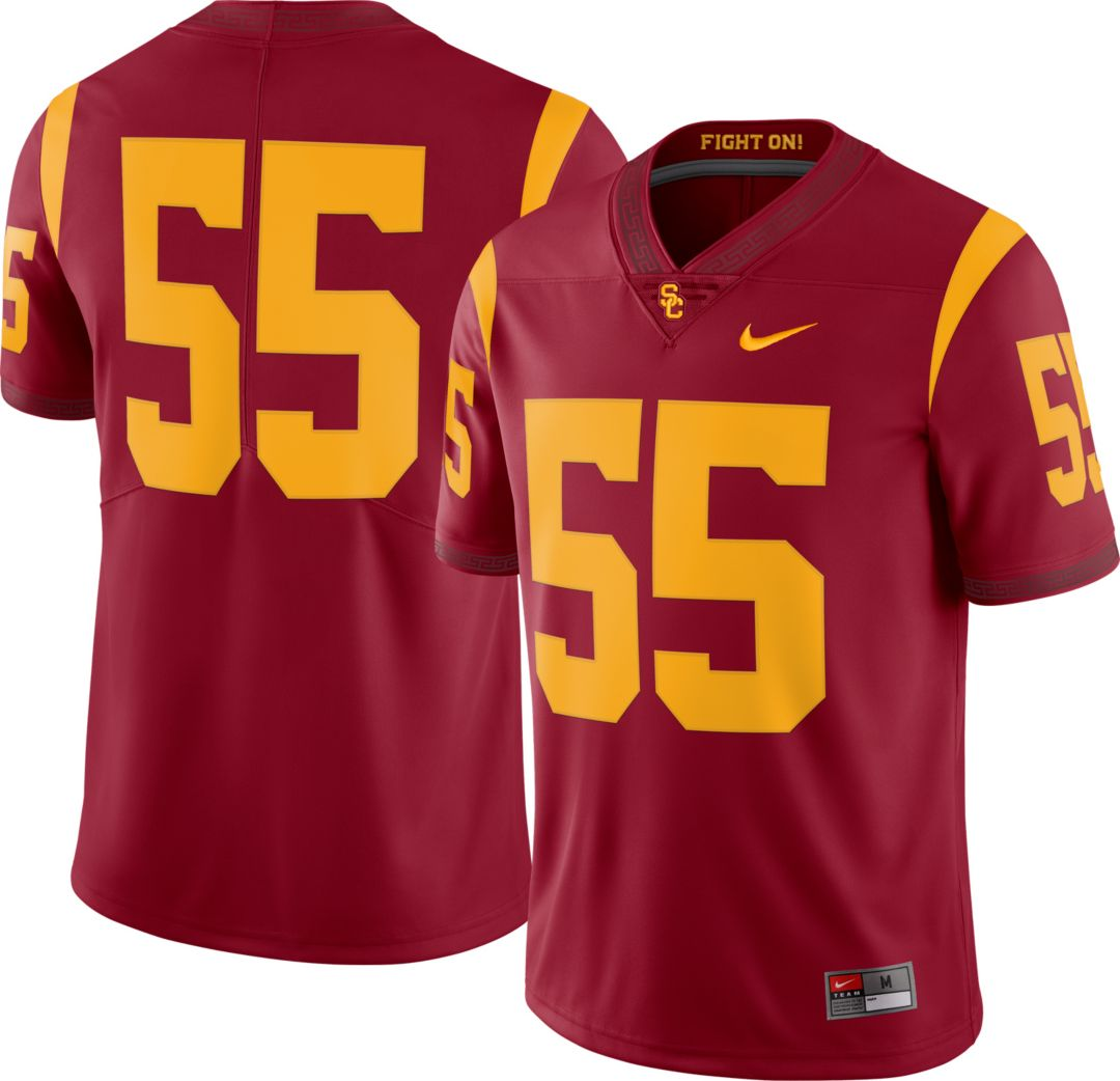 hot sale online cc370 8944d Nike Men's USC Trojans #55 Cardinal Dri-FIT Limited Football Jersey