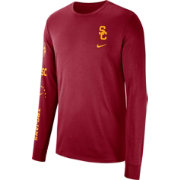 Nike Men's USC Trojans Cardinal Dri-FIT Elevated Basketball Long Sleeve Shirt