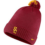 Nike Men's USC Trojans Cardinal Football Sideline Pom Beanie