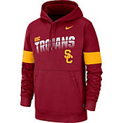 Nike Men's USC Trojans Cardinal Therma Football Sideline Pullover Hoodie