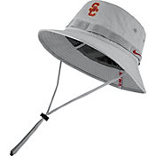 Nike Men's USC Trojans Grey Dri-FIT Sideline Bucket Hat