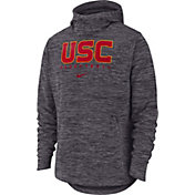 Nike Men's USC Trojans Grey Heathered Dri-FIT Spotlight Pullover Hoodie