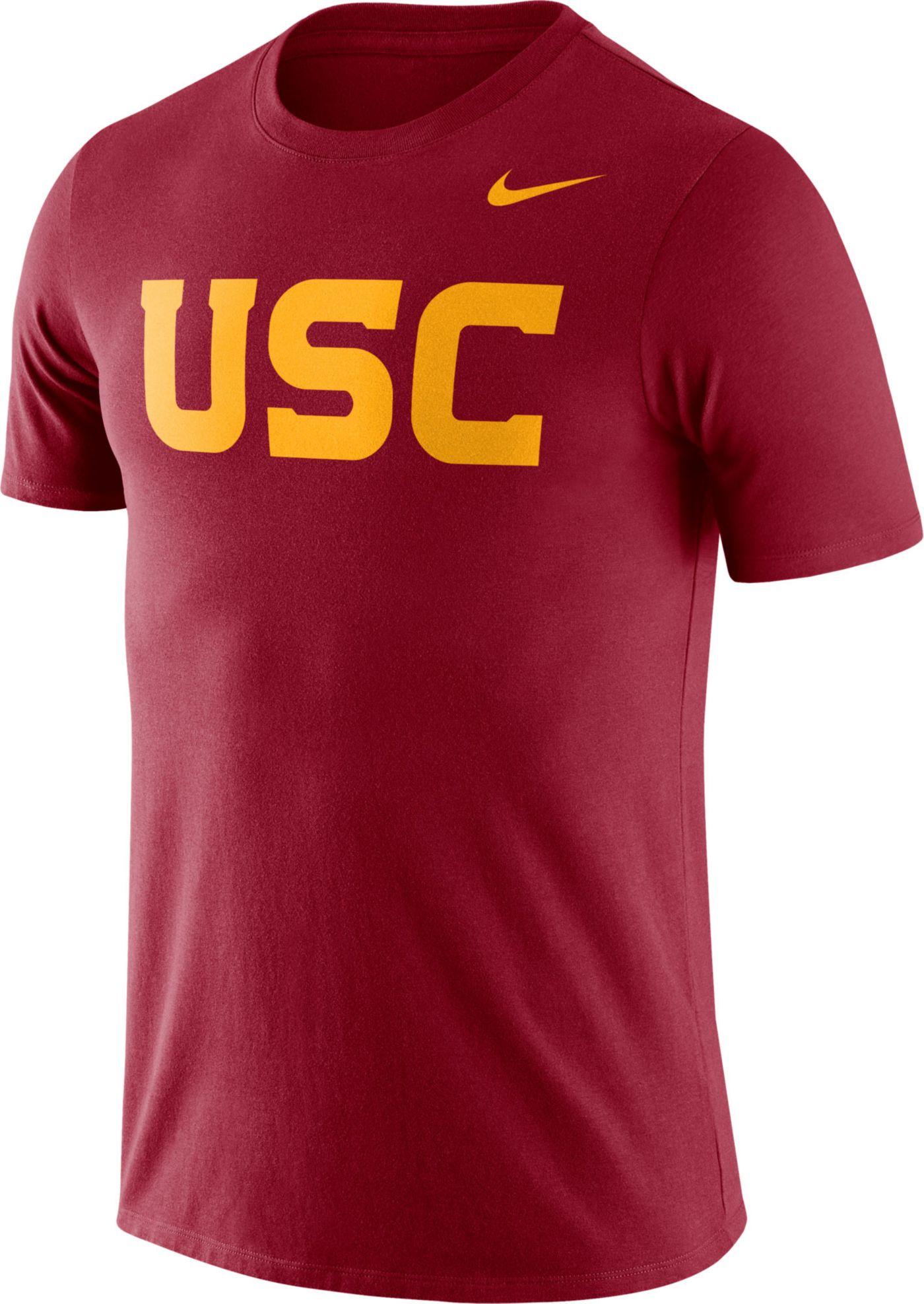 Nike Men's USC Trojans Cardinal Dri-FIT Cotton Word T-Shirt