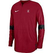 Nike Men's Stanford Cardinal Lockdown Half-Zip Football Cardinal Jacket