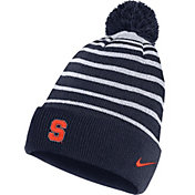 Nike Men's Syracuse Orange Blue Football Sideline Cuffed Pom Beanie