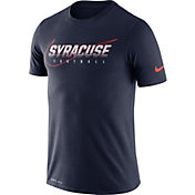 Nike Men's Syracuse Orange Blue Football Dri-FIT Cotton Facility T-Shirt